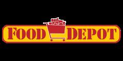 A theme logo of Food Depot